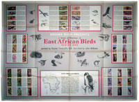 East African birds 1 wallchart